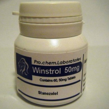pro chem labs winstrol 50 mg stanozolol pills
